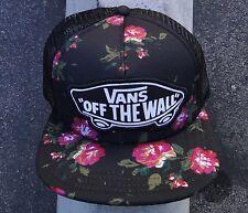Vans Skateboard Beach Girl Tw Unisex Black Roses Logo Snapback Hat