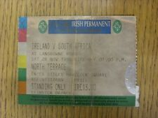 28/11/1998 Ticket: Rugby Union - Ireland v South Africa [At Lansdown Road] (fold