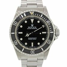 Men's Rolex Submariner No-Date 14060 Stainless Steel Black Dive 40mm Watch