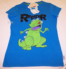 Nickelodeon Rugrats Ladies Reptar Blue Printed T Shirt Size S New