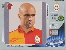 N°555 CRIS # BRAZIL GALATASARAY.AS CHAMPIONS LEAGUE 2013 STICKER PANINI