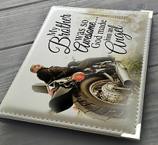 "Personalised 7x5"" x 36 photo album, memory book, In loving memory Brother"