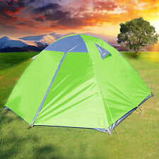 3 Man Camping Hiking Climbing Double Layer Backpacking Tent Aluminum Poles SALE