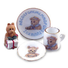 Reutter porcelana mini abc set/Teddy abc break casi muñecas Tube Dollhouse 1:12