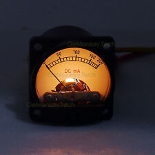 Yellow Backlight Analog DC 200mA Amplifier Panel Meter MILLIAMPS 34mm