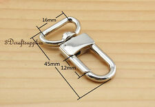 Lobster Clasps Clips Claw purse hooks Swivel snap hook silver 16 mm 10pcs P35