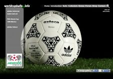 The official ball of the 1986 FIFA World Cup in Mexico: ADIDAS AZTECA