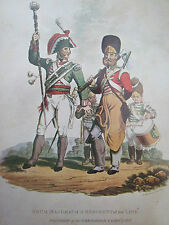 MILITARY POSTCARD-DRUM MAJOR AND PIONEER 1815 BY C HAMILTON SMITH