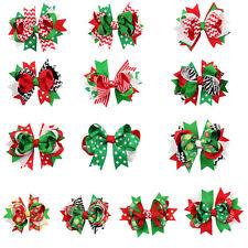 10 x Haarspange Hair Clip bow Haarschmuck Clip mit Schleife Kinderhaarclip Cips