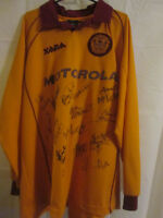 Motherwell 2000-02 Match Worn Home Football Shirt Signed by Squad COA (6826)