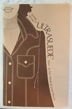 Sewing Skinner Ultrasuede Fabric by Pati Palmer and Susan Pletsch (1974, Paperba
