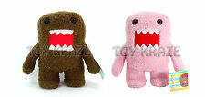 "TWO DOMO KUN SET! PINK & BROWN SOFT PLUSH DOLL ANIME MEDIUM LICENSED 15"" NWT"