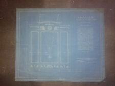 PLAN ARMOIRE EN CYANOTYPE  A. GUERITTE ARCHITECTE ,12 MARS 1910 ART NOUVEAU