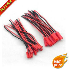10 Pairs 100mm JST Connector Plug for RC Lipo Battery Part 22AWG wire #LE S