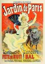 A4 photo CHERET Jules les affiches illustrees 1896 Jardin de Paris imprimé Poster