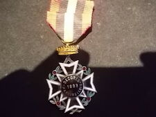 belle medaille militaire belge emaillée peux courante