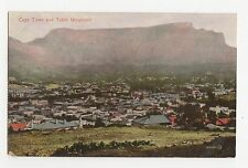 South Africa, Cape Town & Table Mountain Postcard, A696