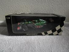 Coa signé minichamps jaguar racing car 2004 mark webber 1:18 wec champion