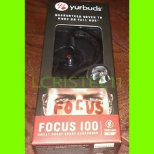 NEW - YURBUDS Focus 100 -  In-Ear Sport BLACK Headphones Sweat proof JBL HARMAN