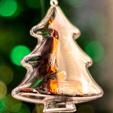 x100 Transparente árbol de Navidad Forma Decoraciones Para Vacío Rellenable Bola