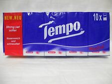 10 Tempo pocket tissues