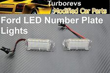 FORD FOCUS BRIGHT LED XENON REAR NUMBER PLATE LIGHTS MODULE HOUSING WHITE 6000K