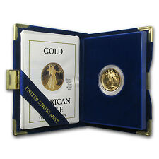 1988-P 1/4 oz Proof Gold American Eagle Coin - Box and Certificate - SKU #4915