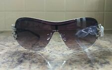 Genuine Guess Black/Sliver Rimless Crystal Sunglasess