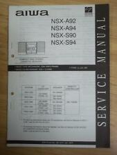 AIWA Service Manual for the NSX A92 A94 S90 S94 Cassette Receiver System~Repair
