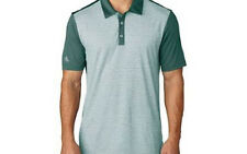 Adidas Climachill Heather Stripe Polo (M) Tech Forest BC1206