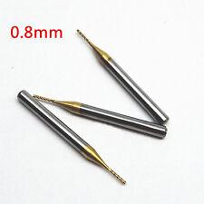 10tlg 0.8mm 1/8'' Schaftfräser Schlichtfräser PCB CNC Bohrer Fräser Drill Bits ~