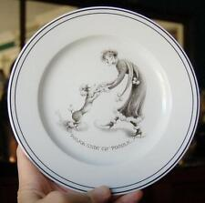 """NEIMAN MARCUS EXCLUSIVE LIMOGES FRANCE """"POLKA WITH MY POODLE"""" CABINET PLATE"""