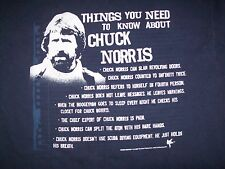 MEN'S CHUCK NORRIS T-SHIRT BLUE THINGS YOU NEED TO KNOW ABOUT CHUCK NORRIS