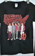 ONE DIRECTION 1D Take Me Home Tour 2013 Small Black T-Shirt 100% Cotton
