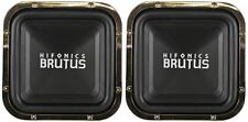 "(2) Hifonics BRZ12SQD4 12"" 2400 Watt Dual 4-Ohm Car Audio Square Subwoofers"