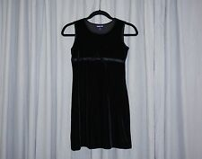 Girls Size 12 LIMITED TOO Dress Black Velour Velvet Holiday Church Party