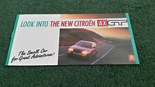 1988 CITROEN LOOK INTO THE NEW AX GT 3 DOOR - SMALL UK BROCHURE - K2456 - Stamp