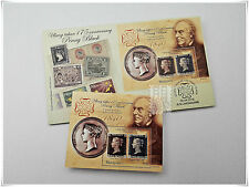 Malaysia 2015 175th Anniversary of The Penny Black FDC with MS+MS(Rowland Hill)