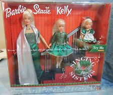 Holiday Singing Sisters Musical Barbie Kelly Stacie Doll Set Sing Deck The Halls