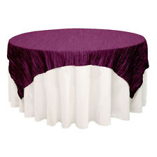 Crinkle Taffeta Overlays Square Tablecloth Wedding Party