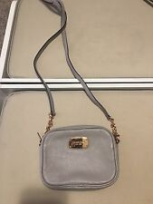 MICHAEL Michael Kors Fulton Small Leather Crossbody bag GREY WITH ROSE GOLD