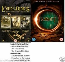 LORD OF THE RINGS + HOBBIT TRILOGY DVD BOX SET ALL 6 MOVIE FILMS NEW ORIGINAL UK