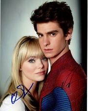 EMMA STONE & ANDREW GARFIELD signed autographed THE AMAZING SPIDER-MAN photo