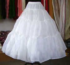 New Long Petticoat Crinoline Underskirt Hoop Slip Ball Gown Bridal Wedding Dress
