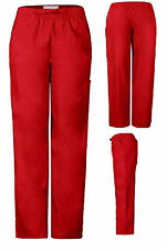 Men Women Solid Scrub Pants RED Size X-Small 2 Side Pockets 1 Cargo Pocket NWT