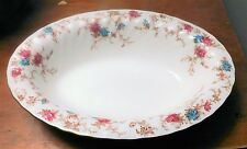 "MINTON 'Ancestral' Bone China - Oval Vegetable Bowl 10"" EXC"