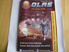 west ham utd olas fanzine no 518 v portsmouth 10/9/2011