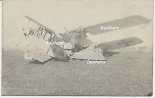 Foto Fliegertruppe deutsche Flugzeuge-crash-Unfall 1.WK (t571)