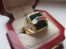 "NEW! Gents FLT ""Odd Fellows"" Member CREST Ring *"
