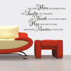 Large home laughter hope memories wall stickers Decal Removable Art Vinyl Decor